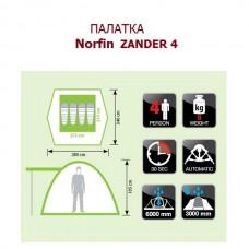 Палатка Norfin Zander 4